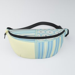 Summer Blues and Yellow Multi Pattern Design Fanny Pack