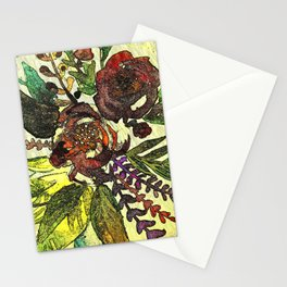 Art Nuovo Flowers Stationery Cards