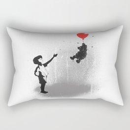 Little Black Rain Cloud Rectangular Pillow