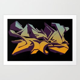 Sky graffiti Art Print