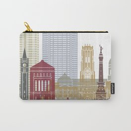 Indianapolis skyline poster Carry-All Pouch