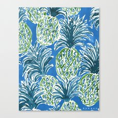LAPIS PINEAPPLE O'CLOCK Tropical Print Canvas Print