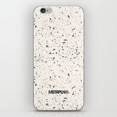 Retro Speckle Print - Bone iPhone & iPod Skin