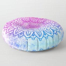 Watercolor Mandala Floor Pillow