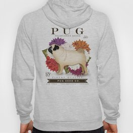 Pug dog seed packet artwork by Stephen Fowler Hoody