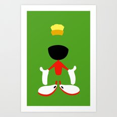 Looney Toons - Marvin the Martian Art Print
