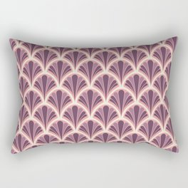 Vintage Art Deco Seashell - Red onion Rectangular Pillow
