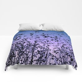 Blue sky birds freedom flight Comforters