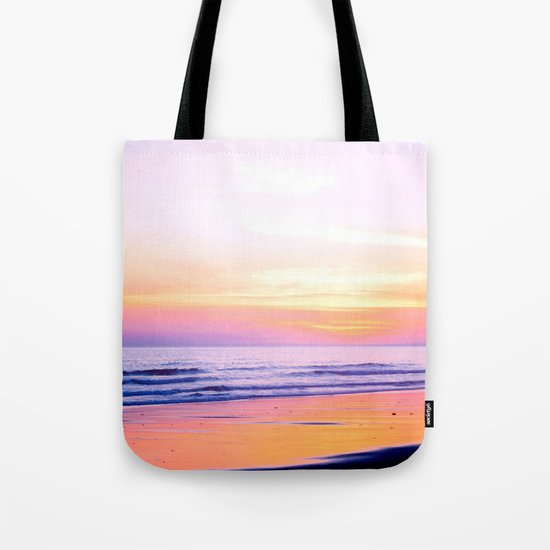Pink Sunset Beach Tote Bag