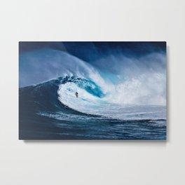 Wave Series Photograph No. 5 - Thirty Foot Roller Metal Print