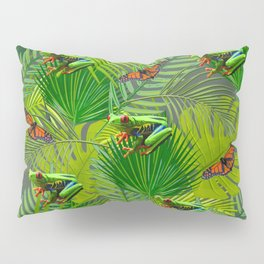 Frogs and Monarchs Pillow Sham