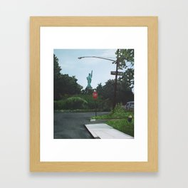 Dead-End Liberty Framed Art Print