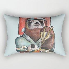 sloth eating sushi Rectangular Pillow