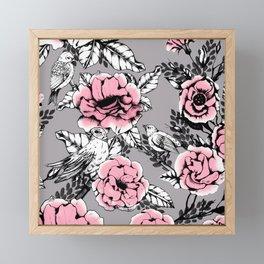 Romantic flowering in the garden Framed Mini Art Print