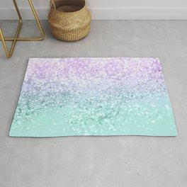 Mermaid Girls Glitter #1a (2019 Pastel Version) #shiny #decor #art #society6 Rug