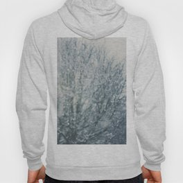 an abstract photograph of a tree & falling sn Hoody