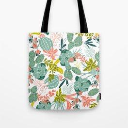 Succulent Garden White Tote Bag
