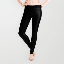 Black and Gold grunge modern abstract background I Leggings