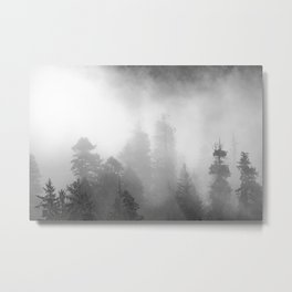Harmony - Misty Mountain Forest Nature Photography Metal Print