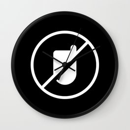 No Dumbphones Allowed! Wall Clock