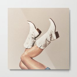 These Boots - Neutral Metal Print