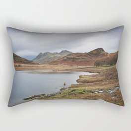 Blea Tarn with Langdale Pikes beyond. Cumbria, UK. Rectangular Pillow