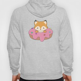 Kawaii fox and donut Hoody