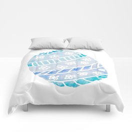 Easter Egg in Blue and Teal Comforters