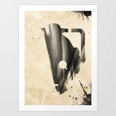Doctor Who Cybermen Rustic Art Print