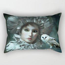 Owls Talk - dedicated to thee_owl_queen Rectangular Pillow