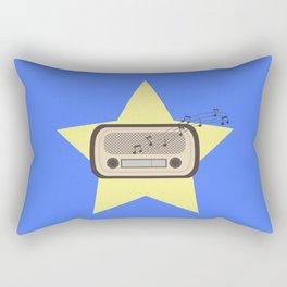 Retro Radio   Rectangular Pillow