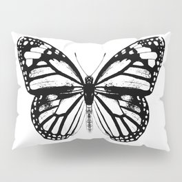 Monarch Butterfly | Black and White Pillow Sham