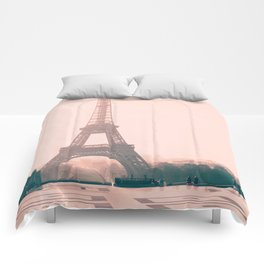Eiffel tower in the early morning Comforters