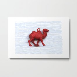 Genetically challenged camel trying to cross the blue mirage Metal Print