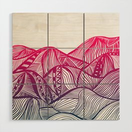 Lines in the mountains 05 Wood Wall Art