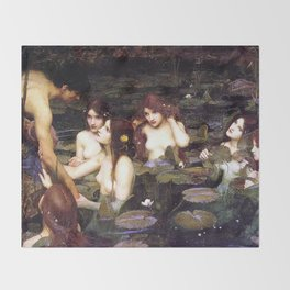 HYLAS AND THE NYMPHS - WATERHOUSE Throw Blanket