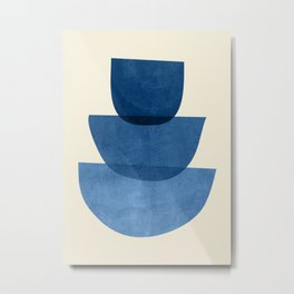 Abstract Shapes 37-Blue Metal Print