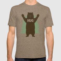 Bear Hug? Mens Fitted Tee LARGE Tri-Coffee
