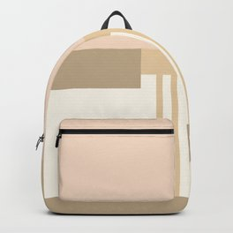Sol Abstract Geometric Print in Tan Backpack