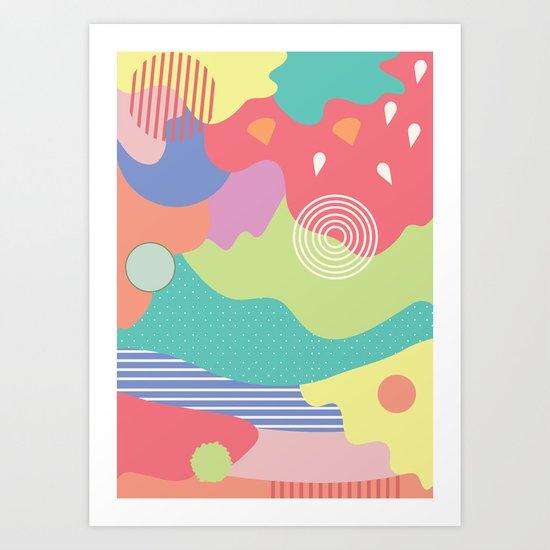 Full of colour Art Print