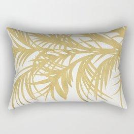 Gold Palms Rectangular Pillow