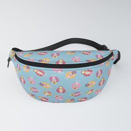 Floating in the Pool Pattern. Women on colorful floaties. Fanny Pack