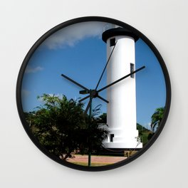 Old Lighthouse @ Rincon Wall Clock