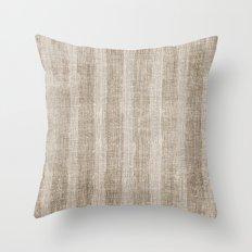 Striped burlap (Hessian series 3 of 3) Throw Pillow