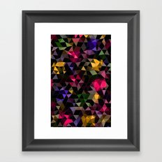 Shatter into color Framed Art Print