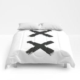Black Cross Comforters