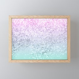 Mermaid Girls Glitter #1 (2019 Pastel Version) #shiny #decor #art #society6 Framed Mini Art Print