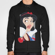 Snow White Scared in the Haunted Forest - Comic Panel Style Hoody