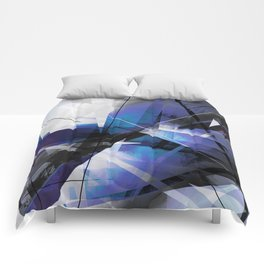 Divided by Glass - Geometic Abstract Art Comforters