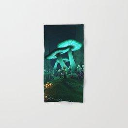 Luminous Mushrooms Hand & Bath Towel